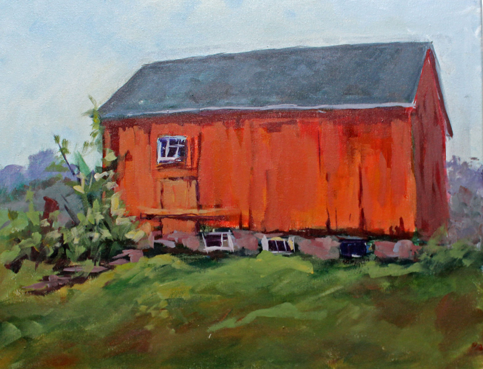 The Red Barn at Meetinghouse Hill by Sharon Chaples</font></a>