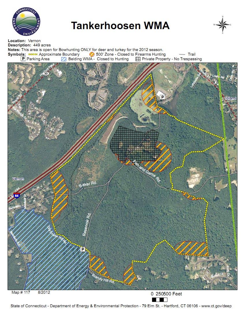 Tankerhoosen WMA Hunting Map
