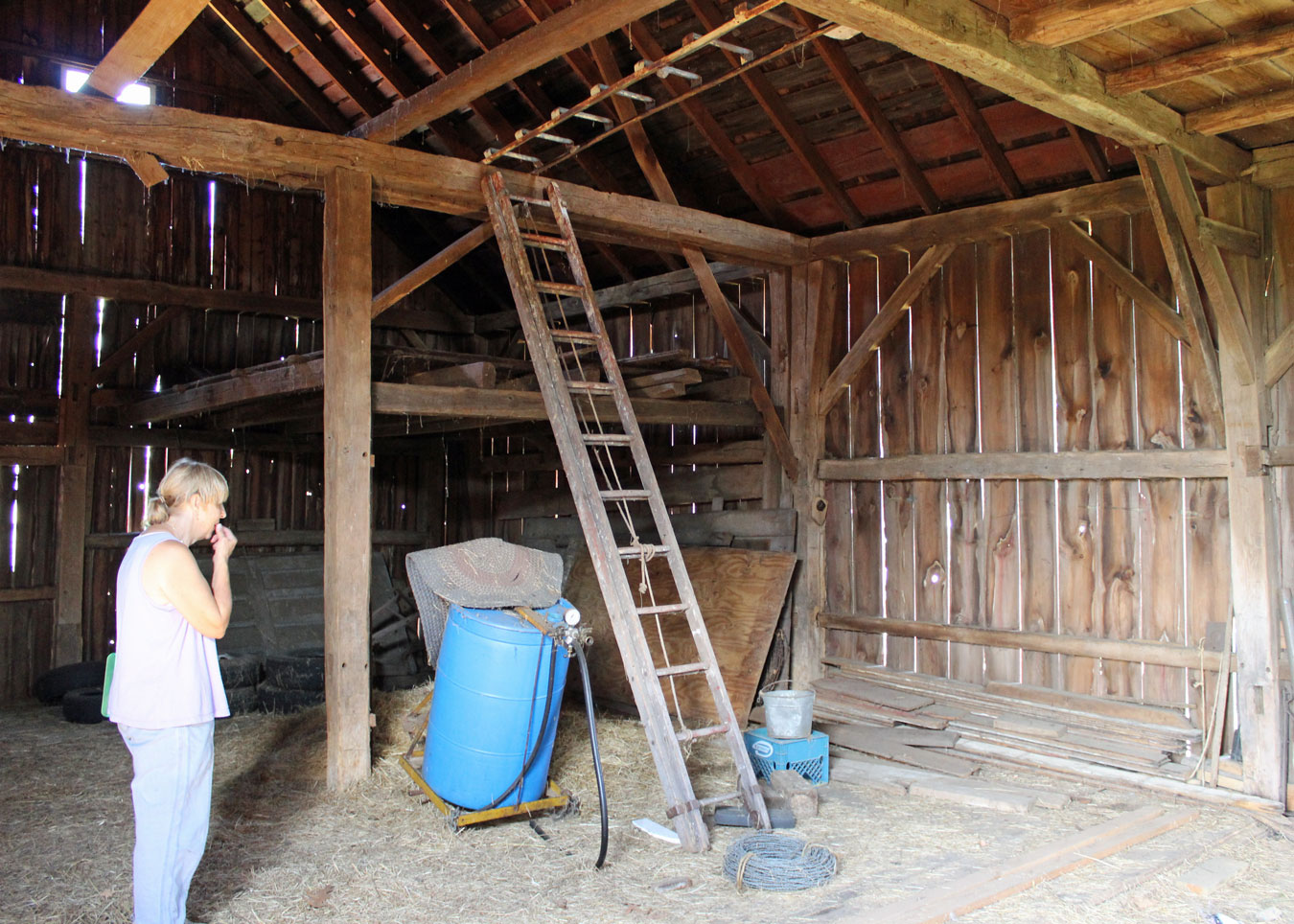 Meetinghouse Hill Barn Inside