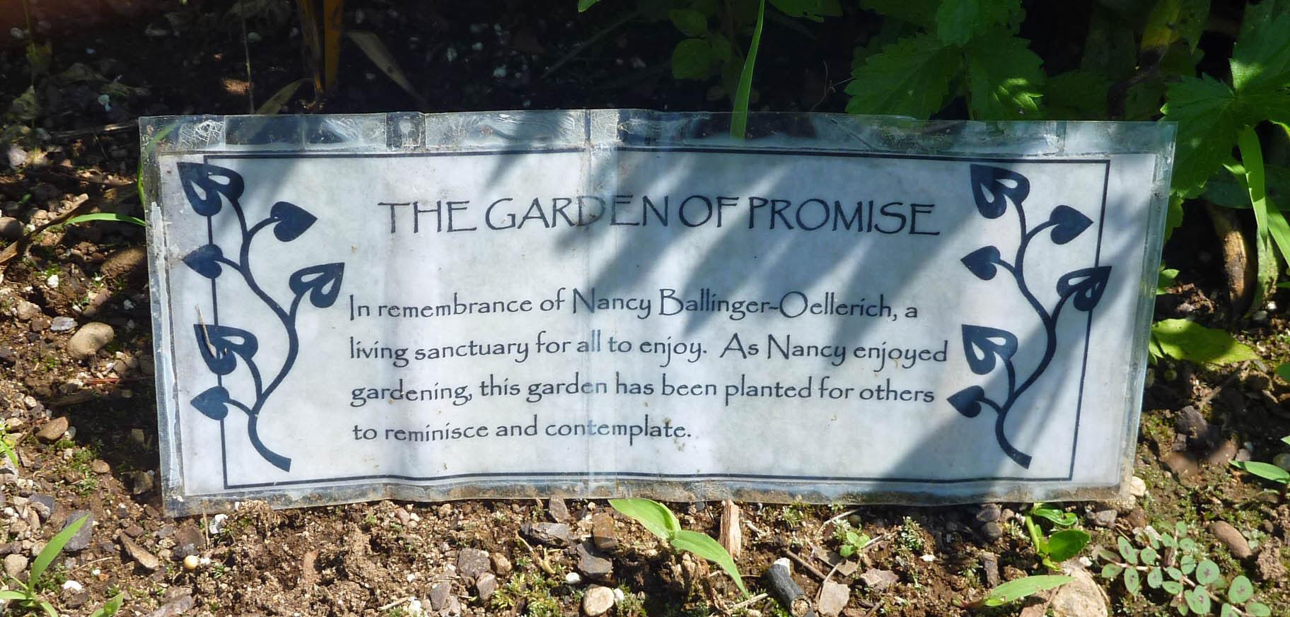 Valley Falls Memorial Garden Sign